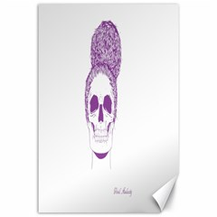 Purple Skull Bun Up Canvas 24  X 36  (unframed) by vividaudacity