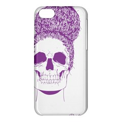 Purple Skull Bun Up Apple Iphone 5c Hardshell Case by vividaudacity