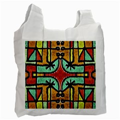 Lap White Reusable Bag (two Sides) by dflcprints