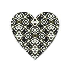 Abstract Geometric Modern Pattern  Magnet (heart) by dflcprints