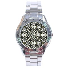 Abstract Geometric Modern Pattern  Stainless Steel Watch by dflcprints