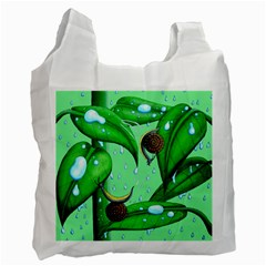 Playing In The Rain White Reusable Bag (two Sides)