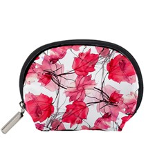 Floral Print Swirls Decorative Design Accessory Pouch (small) by dflcprints