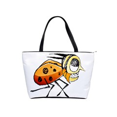 Funny Bug Running Hand Drawn Illustration Large Shoulder Bag by dflcprints