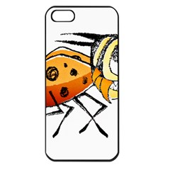 Funny Bug Running Hand Drawn Illustration Apple Iphone 5 Seamless Case (black) by dflcprints