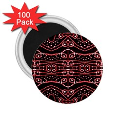 Tribal Ornate Geometric Pattern 2 25  Button Magnet (100 Pack) by dflcprints