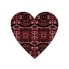Tribal Ornate Geometric Pattern Magnet (heart) by dflcprints