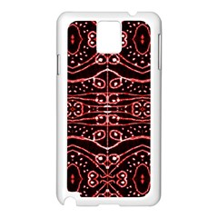 Tribal Ornate Geometric Pattern Samsung Galaxy Note 3 N9005 Case (white) by dflcprints
