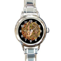 Organic Planet Round Italian Charm Watch by icarusismartdesigns