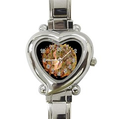 Organic Planet Heart Italian Charm Watch  by icarusismartdesigns