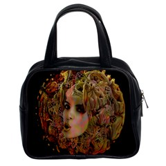 Organic Planet Classic Handbag (two Sides) by icarusismartdesigns