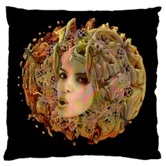 Organic Planet Large Cushion Case (two Sided)