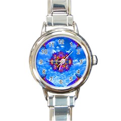 Sky Horizon Round Italian Charm Watch by icarusismartdesigns