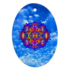 Sky Horizon Oval Ornament by icarusismartdesigns
