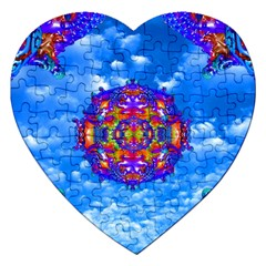 Sky Horizon Jigsaw Puzzle (heart) by icarusismartdesigns