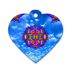 Sky Horizon Dog Tag Heart (two Sided) by icarusismartdesigns