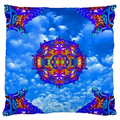 Sky Horizon Large Flano Cushion Case (one Side) by icarusismartdesigns
