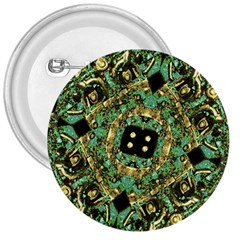 Luxury Abstract Golden Grunge Art 3  Button by dflcprints