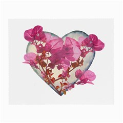 Heart Shaped With Flowers Digital Collage Glasses Cloth (small) by dflcprints