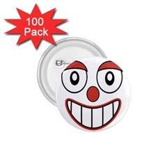 Happy Clown Cartoon Drawing 1 75  Button (100 Pack) by dflcprints