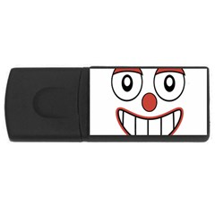 Happy Clown Cartoon Drawing 4gb Usb Flash Drive (rectangle) by dflcprints