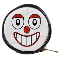 Happy Clown Cartoon Drawing Mini Makeup Case by dflcprints