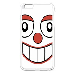 Happy Clown Cartoon Drawing Apple Iphone 6 Plus Enamel White Case by dflcprints