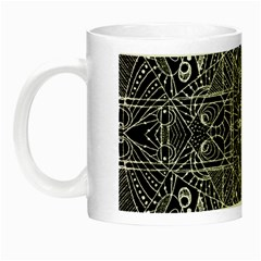 Black And White Tribal Geometric Pattern Print Glow In The Dark Mug by dflcprints