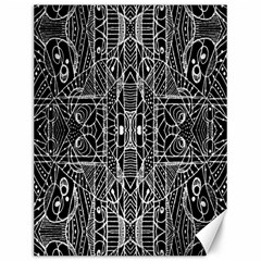 Black And White Tribal Geometric Pattern Print Canvas 12  X 16  (unframed) by dflcprints