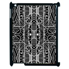 Black And White Tribal Geometric Pattern Print Apple Ipad 2 Case (black) by dflcprints