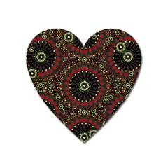 Digital Abstract Geometric Pattern In Warm Colors Magnet (heart) by dflcprints