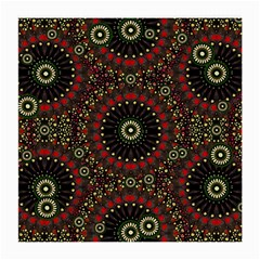 Digital Abstract Geometric Pattern In Warm Colors Glasses Cloth (medium, Two Sided) by dflcprints