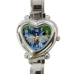 Magic Sword Heart Italian Charm Watch  by icarusismartdesigns