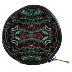 Tribal Ornament Pattern In Red And Green Colors Mini Makeup Case by dflcprints