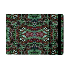 Tribal Ornament Pattern In Red And Green Colors Apple Ipad Mini Flip Case by dflcprints
