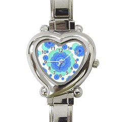 Retro Style Decorative Abstract Pattern Heart Italian Charm Watch  by dflcprints