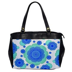 Retro Style Decorative Abstract Pattern Oversize Office Handbag (one Side) by dflcprints