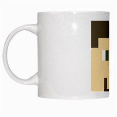 Custom Block Head White Coffee Mug by BlockCrafts