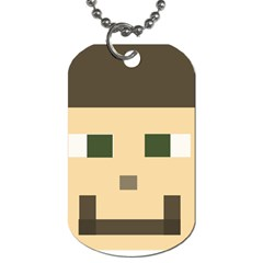 Custom Block Head Dog Tag (one Sided) by BlockCrafts