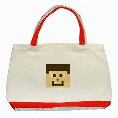 Custom Block Head Classic Tote Bag (red)