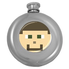 Custom Block Head Hip Flask (round)