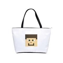 Custom Block Head Large Shoulder Bag by BlockCrafts