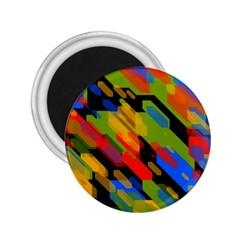 Colorful Shapes On A Black Background 2 25  Magnet by LalyLauraFLM
