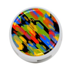 Colorful Shapes On A Black Background 4 Port Usb Hub (two Sides)