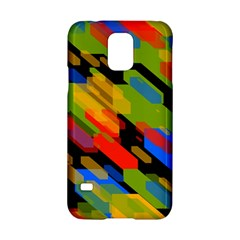 Colorful Shapes On A Black Background Samsung Galaxy S5 Hardshell Case  by LalyLauraFLM