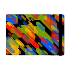 Colorful Shapes On A Black Background Apple Ipad Mini 2 Flip Case by LalyLauraFLM