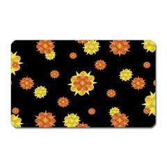 Floral Print Modern Style Pattern  Magnet (rectangular) by dflcprints