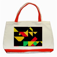 Shapes In Retro Colors 2 Classic Tote Bag (red) by LalyLauraFLM