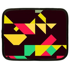 Shapes In Retro Colors 2 Netbook Case (large)	 by LalyLauraFLM