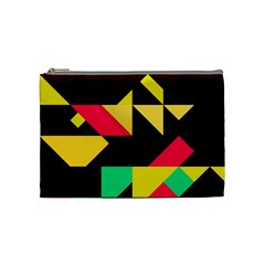 Shapes In Retro Colors 2 Cosmetic Bag (medium) by LalyLauraFLM